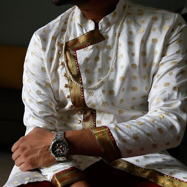 White Colour Full sleeves Traditional Kurta