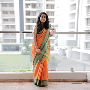 Orange Colour Sico Silk Paithani