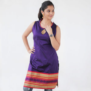 Paithani Purple colour kurta