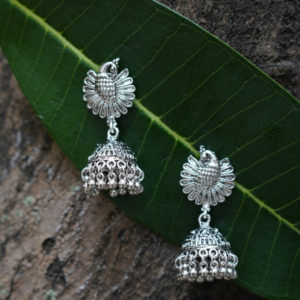 Fancy-Party-Wear-Afghani-Oxidized-Silver-Jhumka