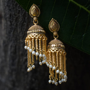 Fancy-gold-plated-long-jhumkas