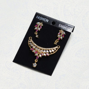 Diamond Pendant & Earrings Set of Mangalsutra