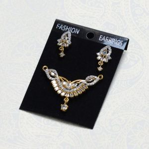 Diamond Pendant & Earrings Set of Mangalsutra (6)
