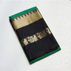 Green & Black Colour sico Silk Saree1100