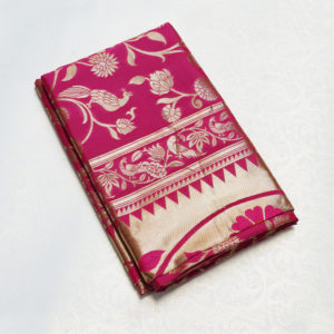Pink Colour Semi Brocade Paithani