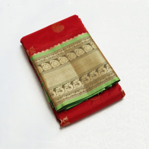 Red Colour mahalsa paithani-3800