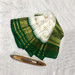 White-&-Green-Combination-Mahalaxmi-Border-Paithani