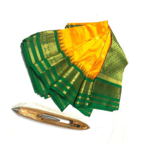 Yellow-&-Green-Combination-Mahalaxmi-Border-Paithani