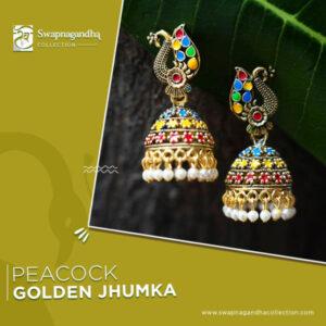 peacock-golden-jhumka
