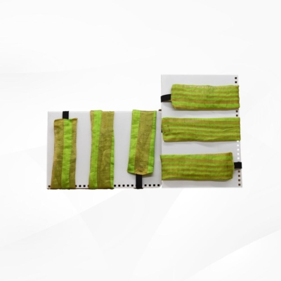 Green colour stripped Hairbands (Pack of 6 )