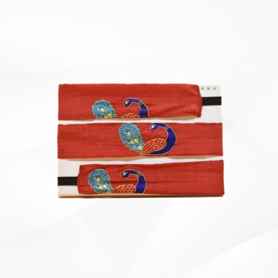 Maroon Colour peacock print Hair Band (Pack of 3)